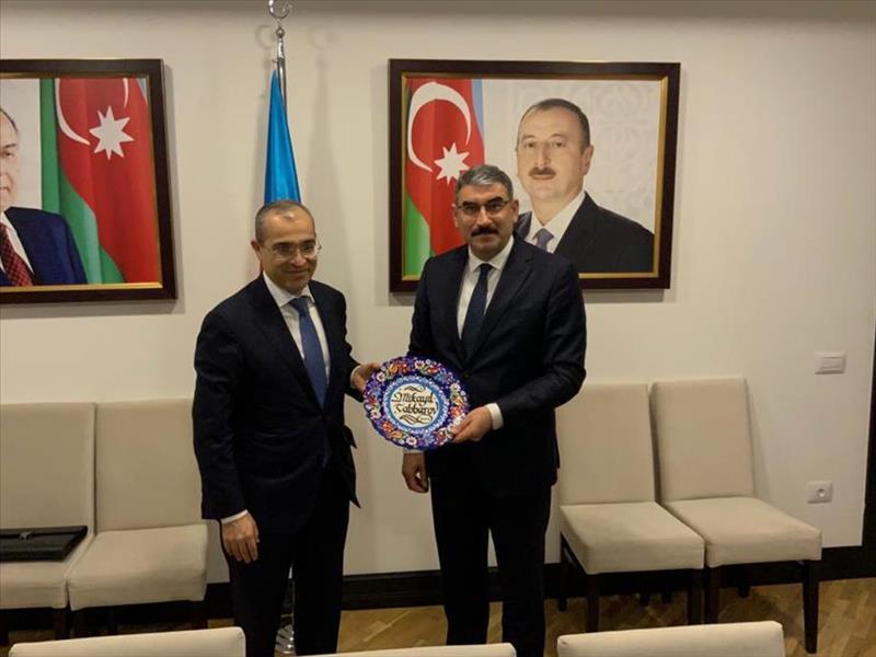 Azerbaycan Ekonomi Bakanı KOSGEB Başkanı Uzkurt'u Kabul Etti